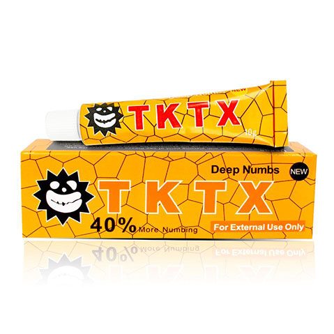 Yellow 40% TKTX Numbing Tattoo Body Anesthetic Fast Numb Cream Semi Permanent Skin Body 10g